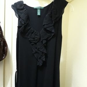 Ralph Lauren xs black dress in excellent condition